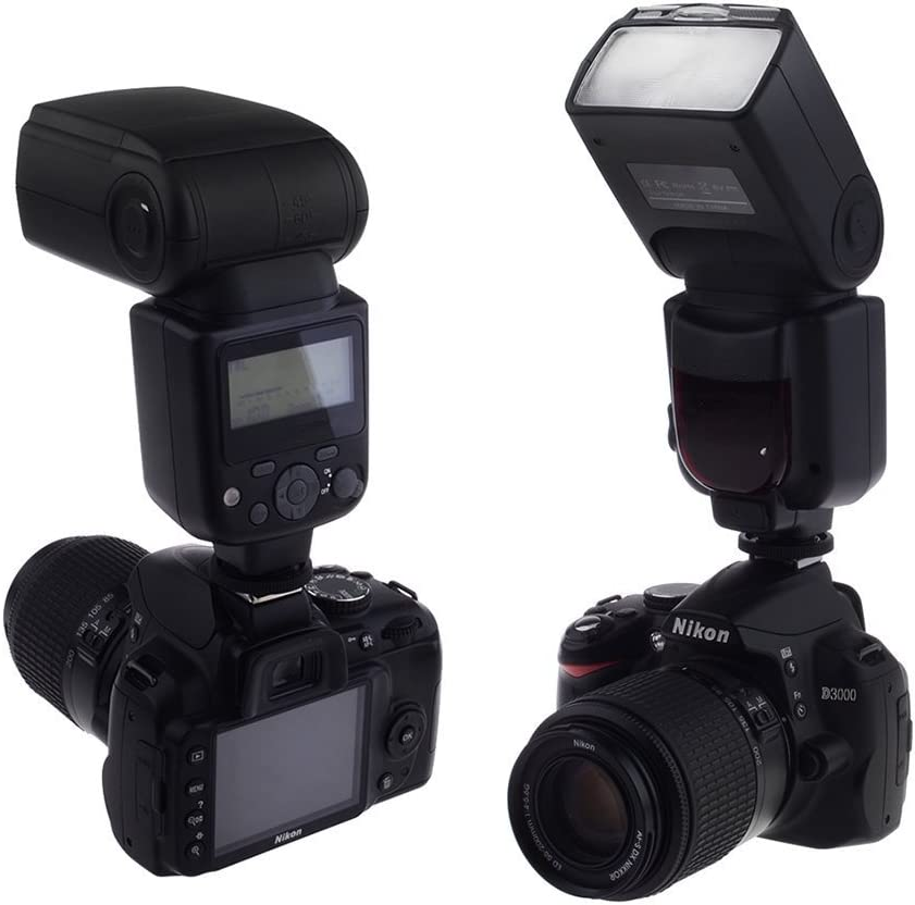 Vertical /& Horizontal Rotation for Nikon D3100 Wireless Sync Built in Dedicated Speedlite Flash i-TTL