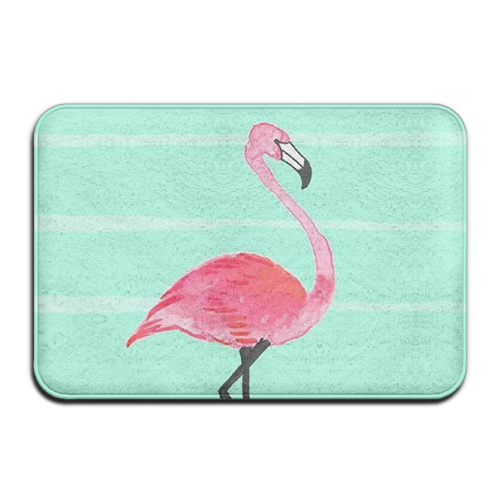 BINGO BAG Pura Vida Flamingo Indoor Outdoor Entrance Printed Rug Floor Mats Shoe Scraper Doormat For Bathroom, Kitchen, Balcony, Etc 16 X 24 Inch by BINGO BAG
