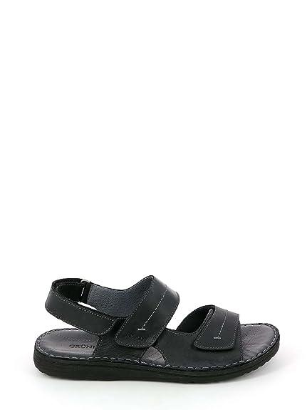 3c4131a9e1d44 Grunland SA1514 Lapo SANDALO Uomo P. Nero 45  Amazon.co.uk  Shoes   Bags