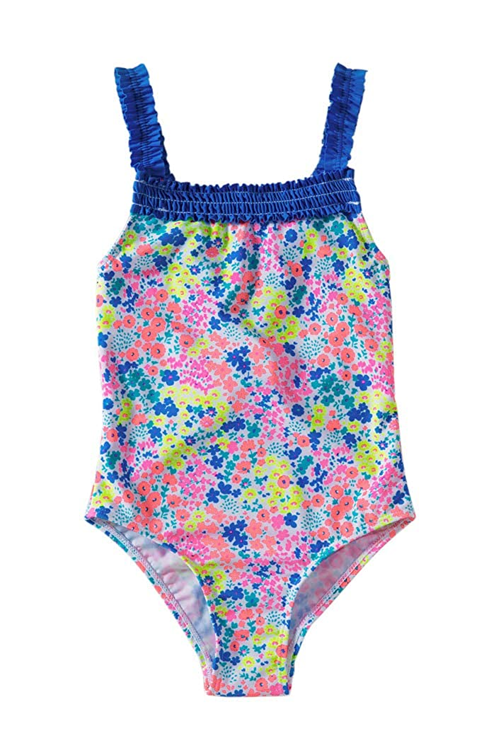YIHUAN Girls Flower Print One Piece Swimsuit 4-8 Years