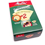 Melitta Cone Coffee Filter Number 2, Natural Brown