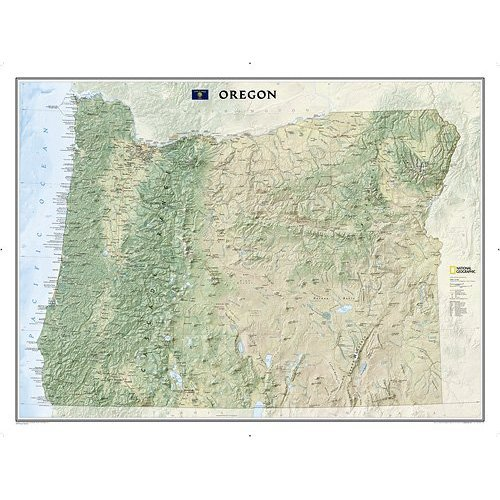Oregon State Wall Map Material: Laminated (Oregon Wall Map)
