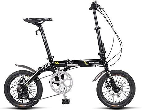 Unisex Bicicleta Plegable,16 Pulgadas,First Class Urbana Bici Plegable,Adulto Folding Bike con Doble Freno de Disco,7 Velocidades Suspensión Completa Premium Shimano: Amazon.es: Deportes y aire libre