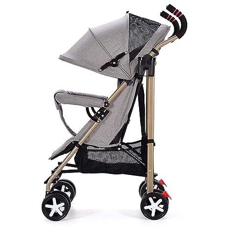 Olydmsky Carro Bebe,Bebé de Paseo Carro fácil Plegable Infantil Cochecito portátil de luz en