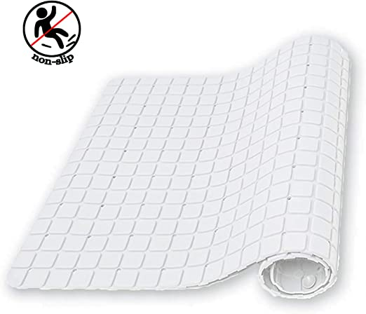 Thick Cream Rubber Anti Slip Mould Long Suction In Bath Shower Mat Disability