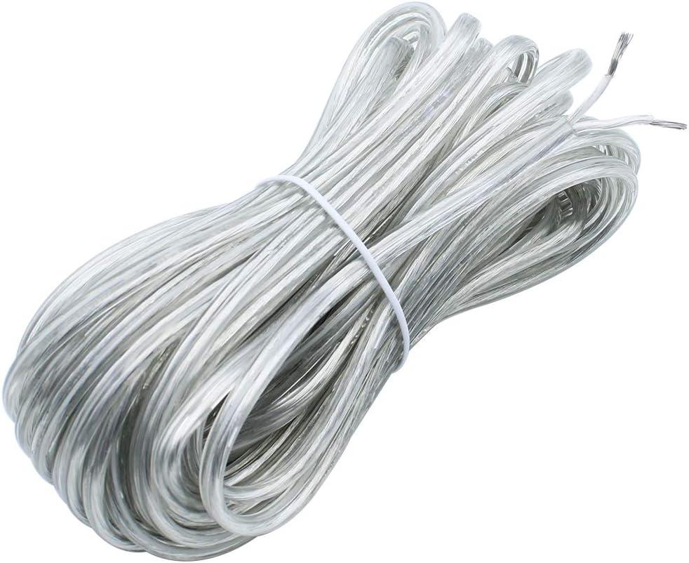 KingYH 1 St/ück 10M Schlauchleitung 2 adrig 0,75mm/² 300//300V Elektrokabel f/ür Trockenraum Leichte Beanspruchung Strom-Kabel-Schwarz