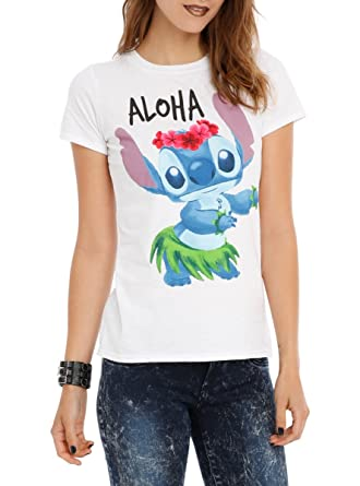 063a8809 Amazon.com: Disney Lilo & Stitch Aloha Girls T-Shirt: Clothing