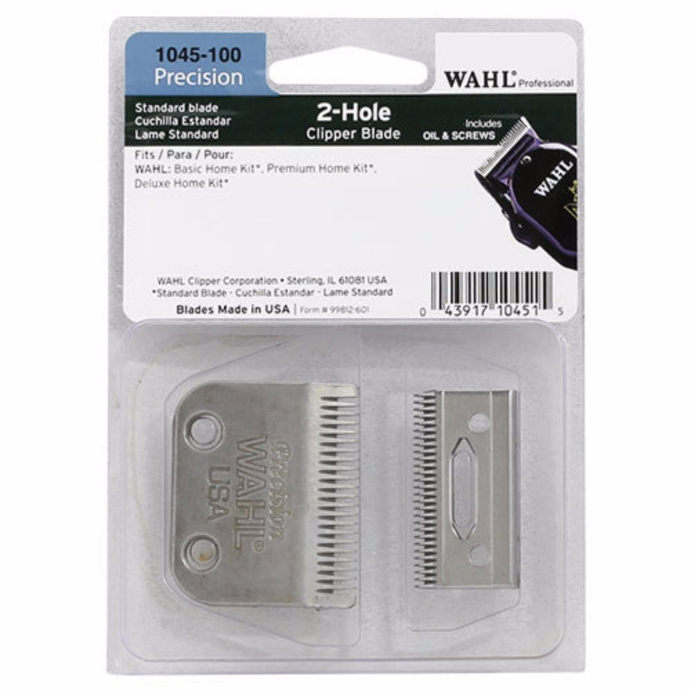 Wahl Professional Precision 2 Hold Clipper Blade #1045-100 – Fits Wahl Basic, Premium, and Deluxe Home Kits – Includes Oil and Screws