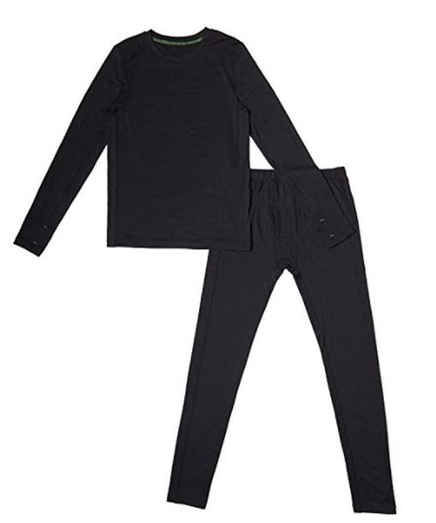 Cuddl Duds Boys Climatesmart Base Layer Thermal Comfortech Set (L 12/14, Black) by Cuddl Duds Komar
