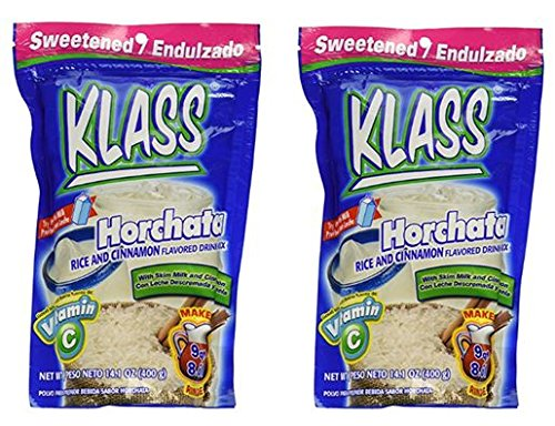 KLASS Horchata Instant Drink Mix, 14.1 oz (Pack of 2)