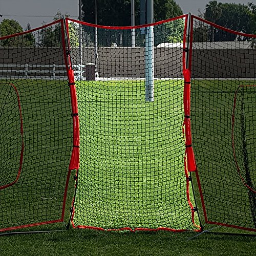 PowerNet Connector for 7x7 Barrier Nets (4x7 EXTENDER NET ONLY) | for Baseball and Lacrosse | 28 SQFT of Additional Protection | Safety Backstop | Portable EZ Setup | Durable Knotless Netting by PowerNet