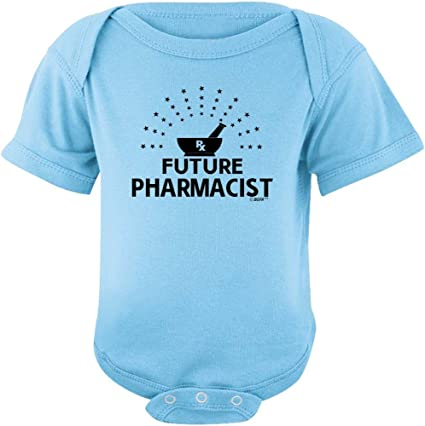 Novelty Themed Baby Grow Healthcare PHARMACIST FUTURE Chemist Romper