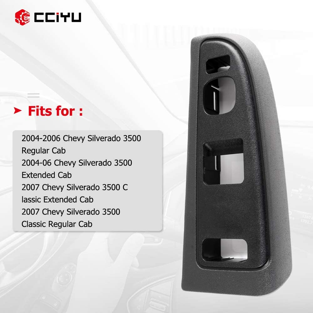 cciyu Window Switch Bezel Front Left Drivers Side Replacement fits for Chevy Silverado 1500 2500 3500 GMC Sierra 1500 2500 3500 2004-2006 Replace 89045128