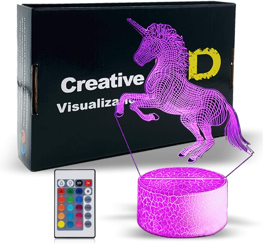 LED Children ceiling lamp Pink RGB Remote Control Girls Unicorn Lamp Dimmable