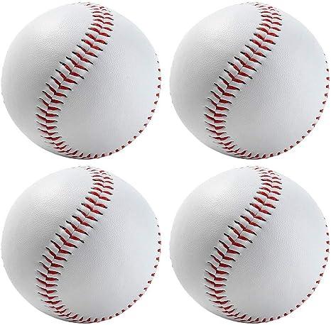 Vosarea 4pcs béisbol Blanco Pelota de béisbol de sóftbol para la ...