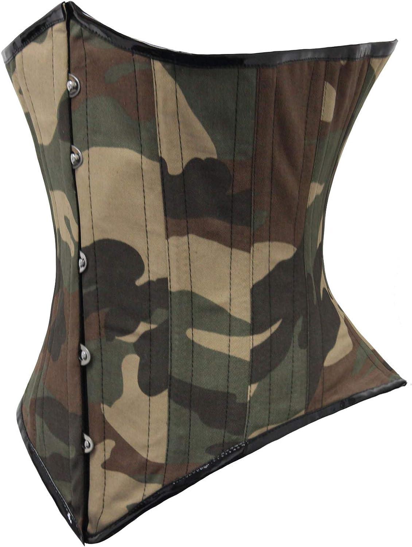 Heavy Duty 26 Double Steel Boned Waist Training Camouflage Underbust Corset 8523