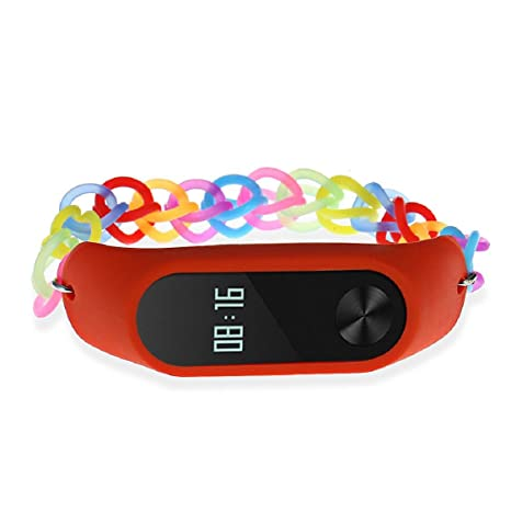 MChoice Women's Rainbow Rubber Band Strap Wristband Bracelet