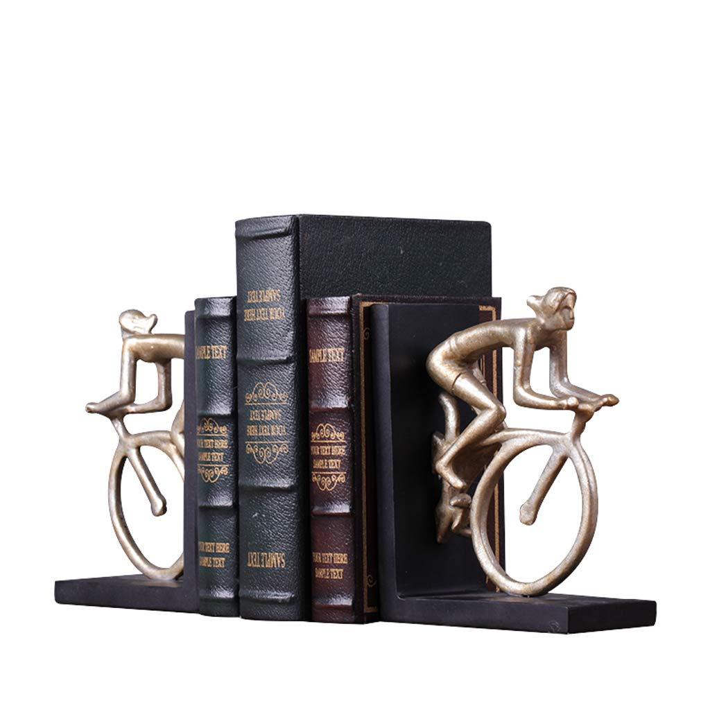 los últimos modelos MKJYDM Nordic Home bookends bookends bookends país Americano Retro Libro por el Estudio decoración de la Oficina decoración Soporte de Libro Clip artesanía 13.5x17cm librero  respuestas rápidas
