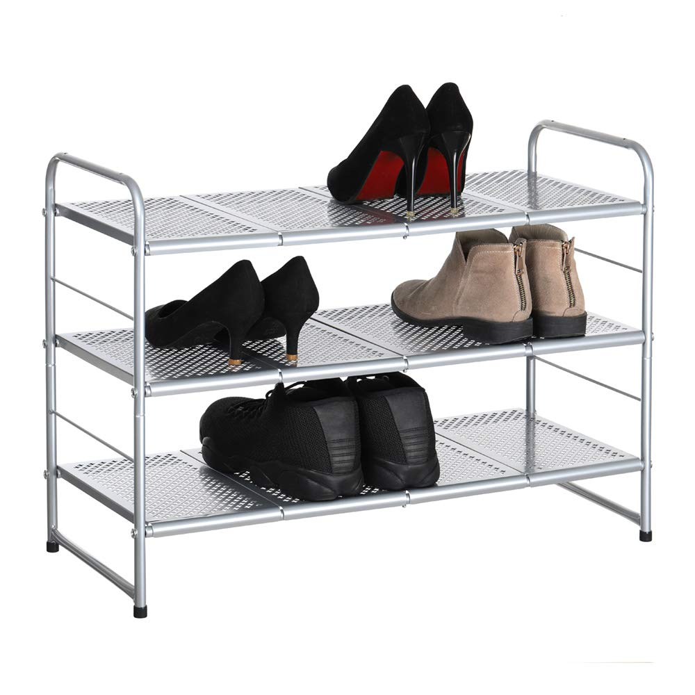 CASAVIDA 3-Tier Shoe Rack Organizer Storage Shelf, Ideal Luggage Stand for Entryway Hallway Bathroom Living Room Corridor Furniture by CASAVIDA