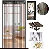 """Legent 2016 High Quality Upgraded Magnetic Screen Door Curtain for French Doors Sliding Glass Doors with the Special Hooks,Extra Velcro ,Ultra Seal Magnets Shut Automatically,Keep Smallest Bugs&Mosquito Out-Hands Free Instant Mesh Net Curtain Fits Doors Up To 34"""" x 82"""" MAX"""