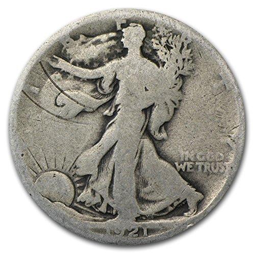1921 D Walking Liberty Half Dollar Good Details Half Dollar Good