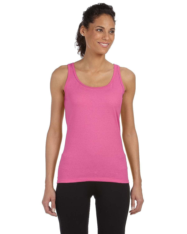 298b5427530 Gildan Softstyle Ladies 4.5 oz. Junior Fit Tank at Amazon Women s Clothing  store