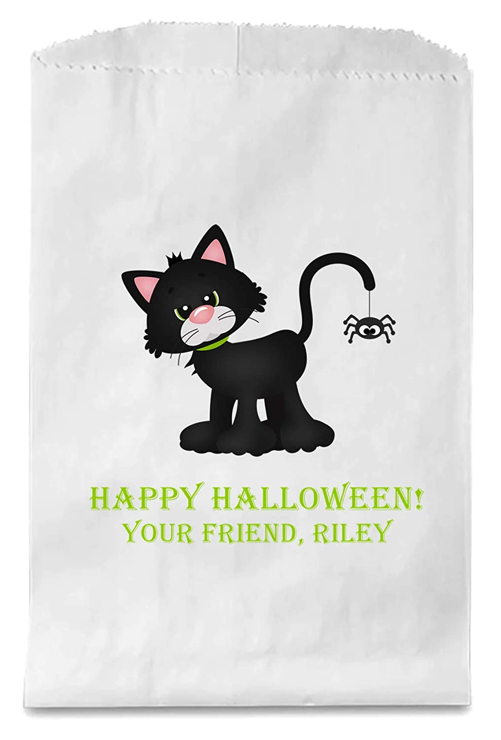 Cat Favour Bags halloween decorations halloween lolly bags Halloween candy bag Black Cat calico bags cat party bagsx 10
