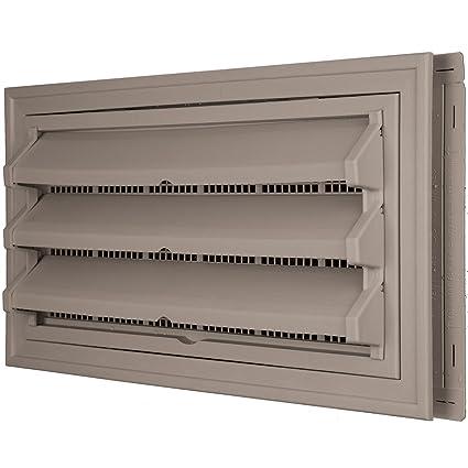 Constructores borde 140036410008 Fundación Kit de ventilación – Anillo Embellecedor y persiana fija Opción (moldeado