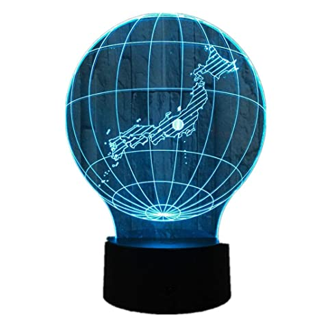 KangYD Lámpara LED japonesa 3D Map, Luz de noche visual ...