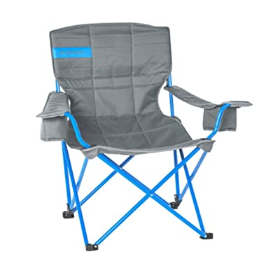Kelty Deluxe Reclining Lounge Chair, Smoke/Paradise Blue – Folding Camp Chair for Festivals, Camping and Beach Days