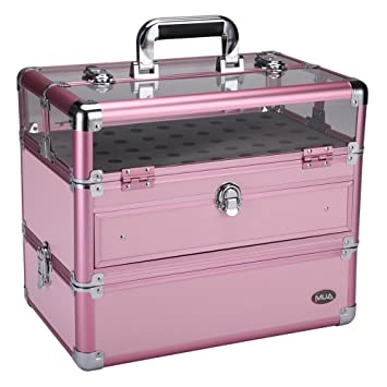 mua limited large stacking pro nail artist aluminum storage case nail polish and manicure tools