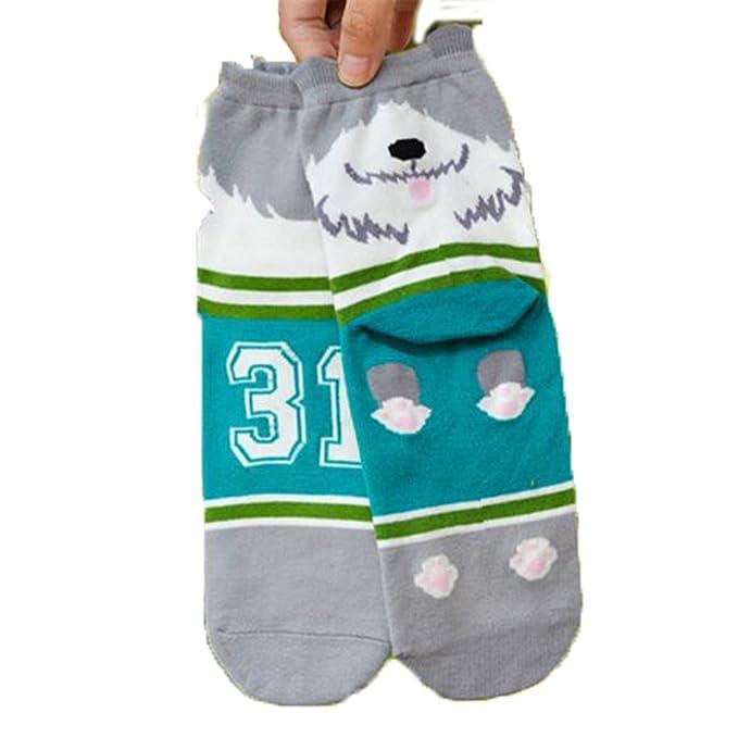 tourwin Hombre Mujer Medias unisex moda dibujos animados perro calcetines de tobillo de algodón Medias Casual, Hombre, color #04, tamaño Talla única: ...