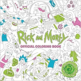 amazoncom rick and morty official coloring book 9781785655623 titan books books