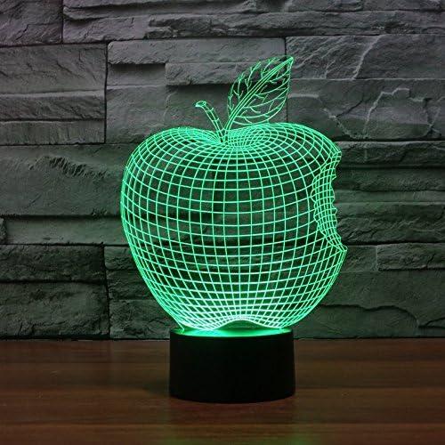 Apple coloré 3D visual illusion de lumière de nuit en trois dimensions toucher léger interrupteur Lampe LED lampe acrylique