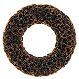 Idyllic 18'' Boxwood Halloween Wreath Curled Roses Wreath for Front Door & Indoor, Home Décor