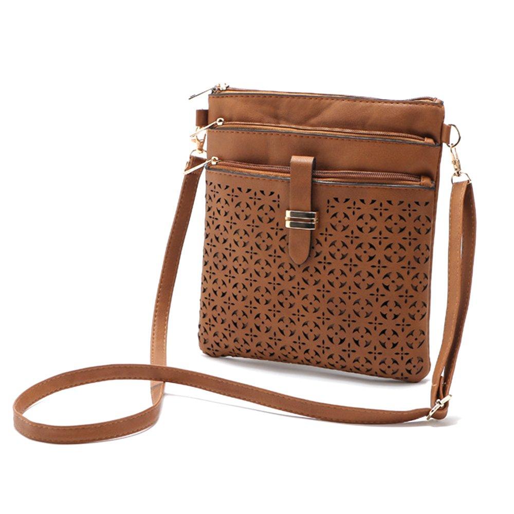 Filigree Four-Zip Crossbody Bag