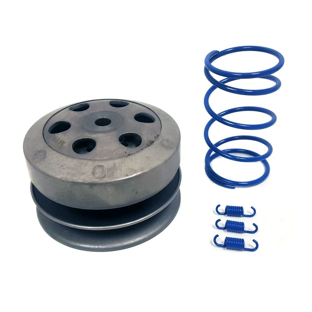 KIT 50cc 4 Stroke GY6/QMB139: Clutch + Torque and Clutch Shoe Springs set (1000 RPM) BLUE