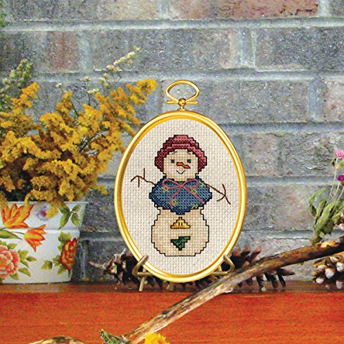"Snowlady Mini Counted Cross Stitch Kit, 3"" x 4"", 14-Count"