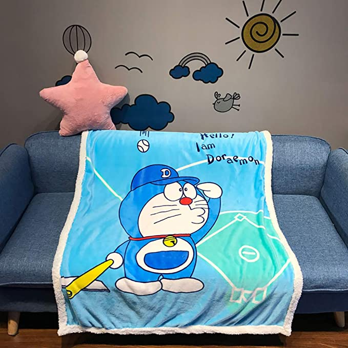 Cartoon Sherpa Throw Blanket Super Soft Cozy Plush Fleece Blanket Baby Crib Living Room for Bed Couch Chair 39.37 55.12 inches