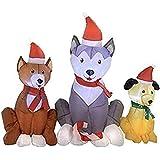 Amazon.com: Gemmy - Husky de Navidad inflable con gorro de ...