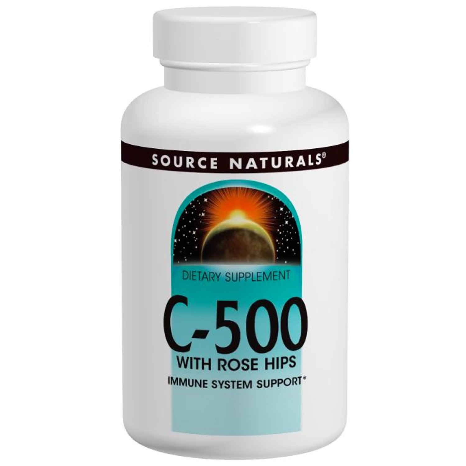 Vitamin C-500 with Rosehips 500mg Source Naturals, Inc. 100 Tabs