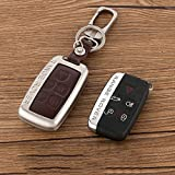 land rover discovery ii key case - Beamseed Metal With Leather Car Key Case For Land Rover Range Rover Sport Evoque Freelander 2 Discovery 4 Key Cover Holder Shell Key Fob Cover Key Wallet/Bag (Brown)
