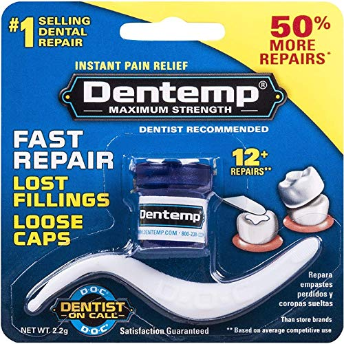 DENTEMP Maximum Strength Dental Repair 2.2 g (Pack of 12) by DENTEMP O.S.