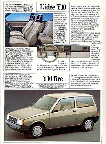 Amazon.com: 1985 Lancia Autobianchi Y10 Turbo Sales Brochure French: Entertainment Collectibles