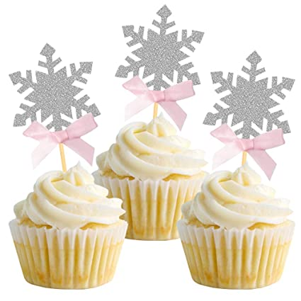 Snowflake Frozen Inspired Cupcake Toppers