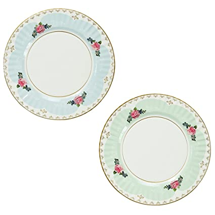 Talking Tables Truly Scrumptious Large Pastel Dinner Paper Plates for a Tea Party Wedding or  sc 1 st  Amazon.com & Amazon.com: Talking Tables Truly Scrumptious Large Pastel Dinner ...