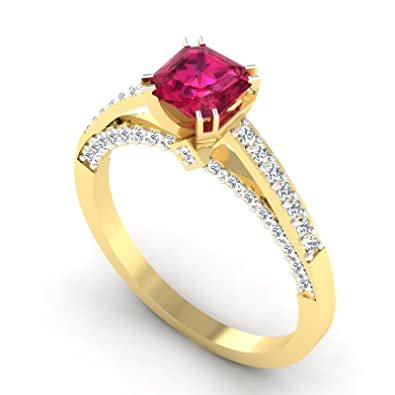 Buy Forever Carat Natural Ruby Gemstone with 14K Gold Indian