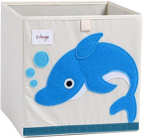 Harson&Jane Plegable de Dibujos Animados de Almacenamiento de Animales Cubo Lienzo Poliéster Juguete caja Organizador para Niños Ballena Azul: Amazon.es: Bebé