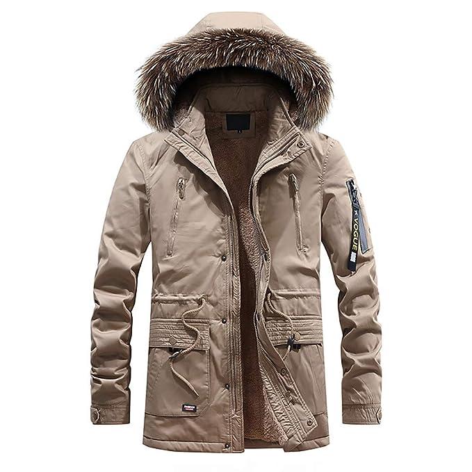 YanHoo Chaqueta Hombre Invierno Abrigo de Terciopelo cálido y Manga Larga de Moda para Hombre Moda Hombre Otoño Invierno Casual Pocket Button Zipper Hoodie ...