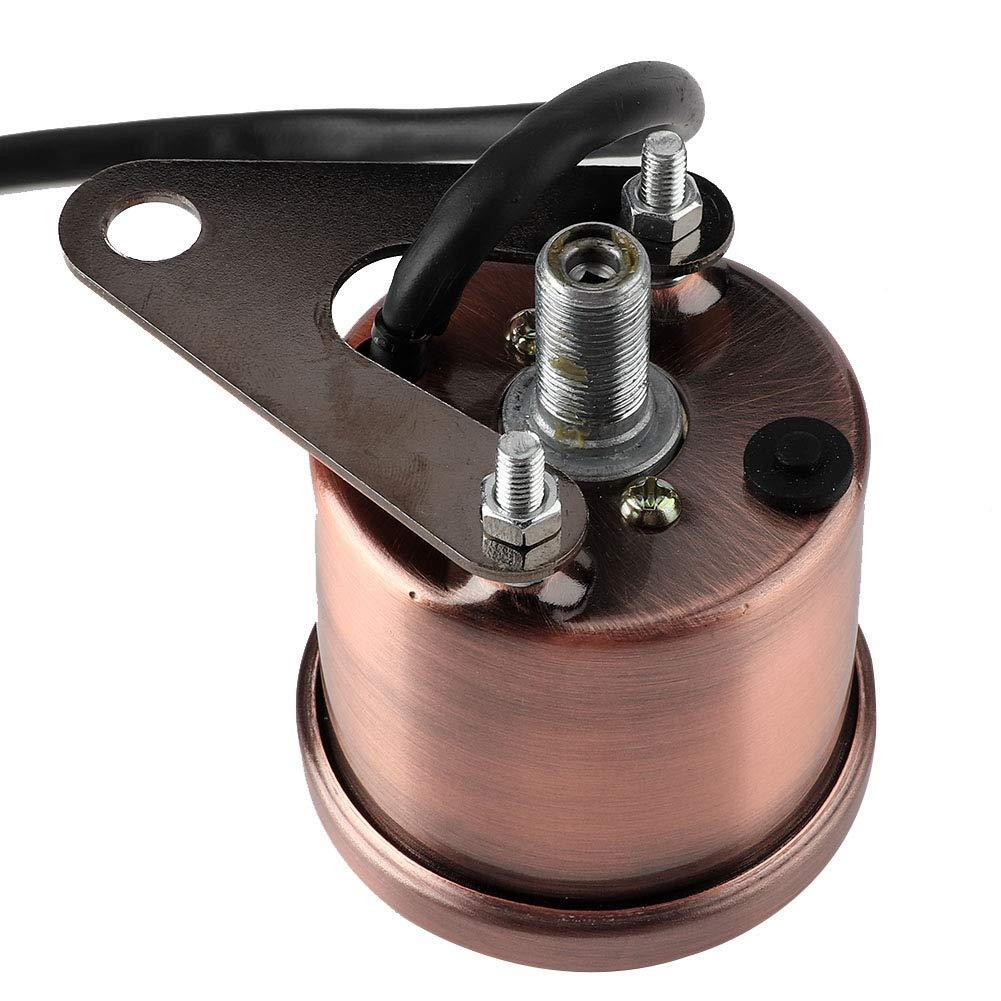Red copper Qiilu 12V Universal Motorcycle LCD Backlight Speedometer Odometer Tachometer Meter Gauge